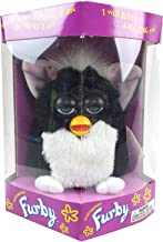 Tiger Electronics Furby Model 70-800 Electronic Talking Sleeping Animated Toys Vintage Rare Collectible 1998 (Black with White Belly)