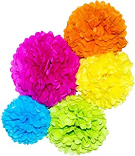 Paper Pom Poms 10, 12, 14 Inch Paper Flowers Balls Decorations for Wedding Birthday Party Outdoor Pack of 15