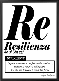 Quadro Moderno Ufficio e Casa - Resilienza - Cornice varie dimensioni - Motivazionale Skills Made in Italy Mod.038