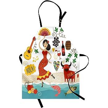 ZINGS Delantal de Cocina torero - Rojo: Amazon.es: Hogar