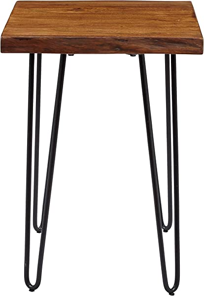 Jofran 1780 7 Nature S Edge Chairside Table 18 W X 24 D X 24 H Acacia Finish Set Of 1