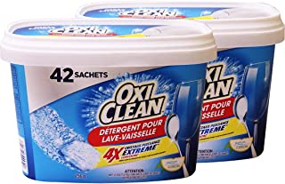 OxiClean Dishwasher Detergent, Lemon Clean, 42 Count (Pack Of 2)