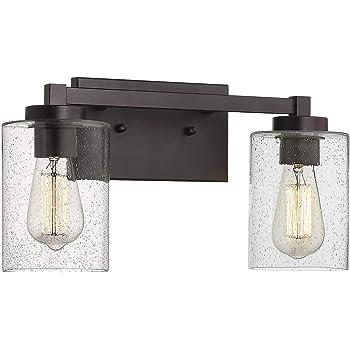 Oil Rubbed Bronze Cornerstone Lighting 1352BB//10 Jackson 2 Light Bath Bar