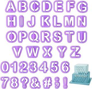 40pcs Emporte Pièces Lettres Chiffres Découpoirs Emporte-Pièces Plastique Emporte Piece Patisserie Alphabet Fondant Cutter...