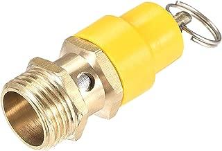 LAQI Presión Sombrero Amarillo Compresor de Aire Válvula de Alivio de presión Liberación G 1/2
