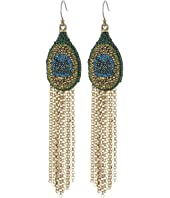 Lucky Brand - Peacock Pave Fringe Earrings