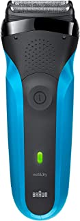 Braun Series 3 310s Men's Electric Foil Shaver / Rechargeable Electric Razor, Wet & Dry, Blue