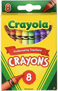 Crayola Crayons 8ct Pack of 6, Assorted