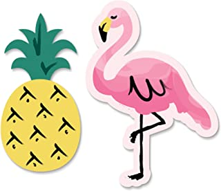Big Dot of Happiness Pink Flamingo - Party Like a Pineapple - Tropical Summer DIY Shaped Party Cut-Outs - 24 Count