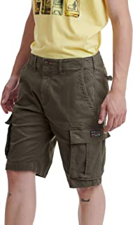 FUNKY BUDDHA Men's Cargo Shorts in Allover Print