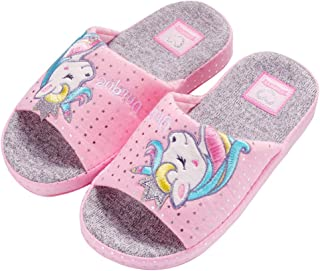 Kids Family Unicorn Slippers Household Anti-Slip Indoor Home Slippers for Girls and Boys