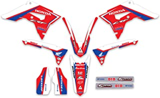 Enjoy MFG Graphics Kit & Custom Plates - Compatible Fit for 2017-2019 Honda CRF 450 - Message Us With Your Plate Options (CARGLASS HRC STYLE)