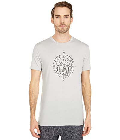 tentree Support Classic T-Shirt (High-Rise Grey Heather) Men