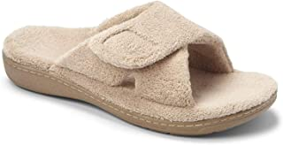 Vionic Women's Indulge Relax Slipper - Ladies Adjustable Slippers with Concealed Orthotic Arch Support Tan 6M