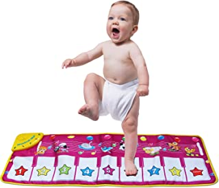 zoordo Musical Mat,Kingseye Baby Early Education Music Piano Keyboard Carpet Animal Blanket Touch Play Safety Learn Singing Funny Toy for Kids (Purple)