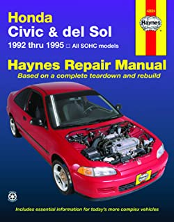 Honda Civic & del Sol covering (92-95) Haynes Repair Manual