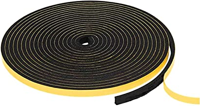 Hukimoyo Single sided foam tape, Soundproofing Gasket tape, Waterproof Self-Adhesive thick Seal, Weather Stripping for Doo...