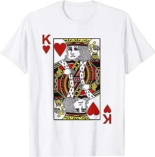 King of hearts Tshirt Blackjack Cards Poker 21 K Tee shirt