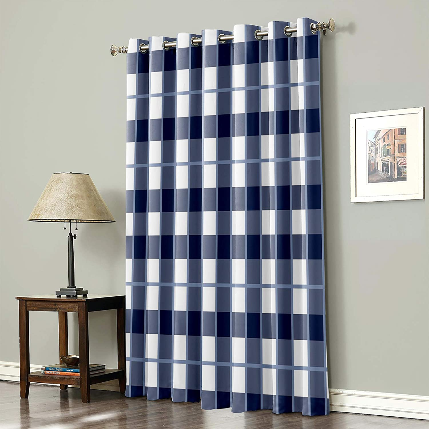 Blackout Curtain for Bedroom Blue famous Choice Geometric White Lattice and P