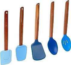 Fox Run 11716 Silicone Cooking Utensil Set, 3.5 x 3.5 x 14.5, Multicolored