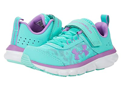 Under Armour Kids UA Assert 8 AC (Little Kid) (Comet Green/Halo Gray/Exotic Bloom) Girls Shoes
