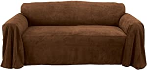 Innovative Textile Solutions Coral Fleece Furniture Throw, 70 by 140-Inch, Coffee