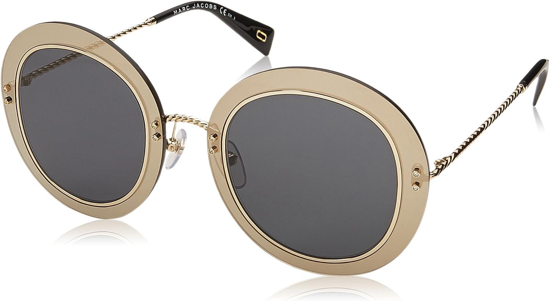 Marc Jacobs Women's Marc262s Polarized Round Sunglasses BLK gold 51 mm