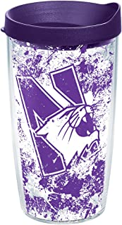 Tervis Northwestern Wildcats Splatter Tumbler with Wrap and Royal Purple Lid 16oz, Clear