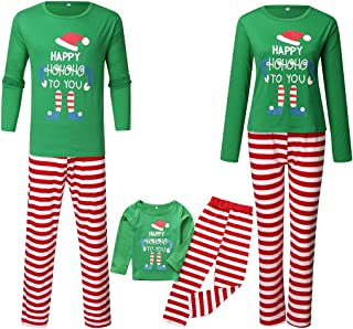 Vibome Boys Cotton Pyjamas Set for Kids Xmas Pjs Toddler Long Sleeve Sleepwear Nightwear