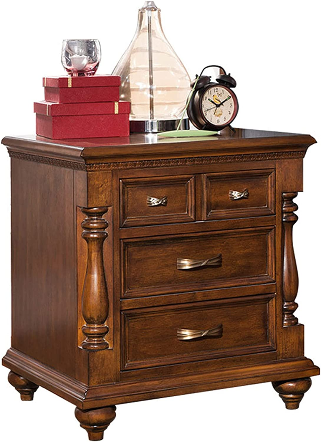 DO.CKEB It is very popular Nightstand 3-Tier Mid-Century wi Modern OFFicial shop Wood
