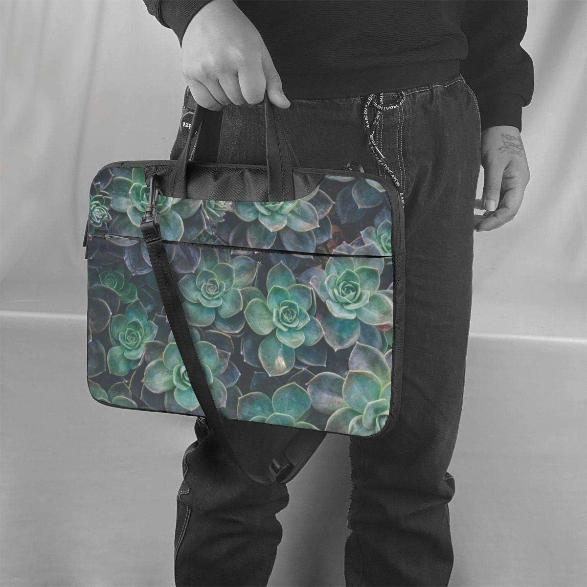 Laptop Shoulder Bag Succulent Plants Carrying Handbag Briefcase Sleeve Case 14 Inch