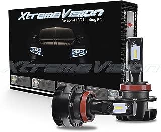 Xtremevision V4 32W 4,800LM LED Bulb - H11 LED Headlight Kit - 6500K Korea CSP LED - Fanless Design - 2019 Model