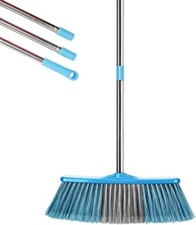 YONILL Indoor Outdoor Broom with Long Handle, 53