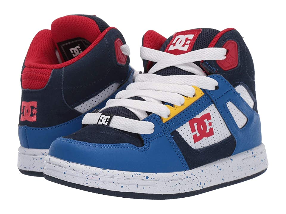 DC Kids Pure High-Top SE (Little Kid/Big Kid) (Navy/Red) Boys Shoes