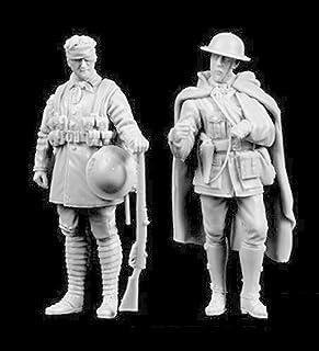 Risjc 1/35 WWII brittisk soldatharts modellsats (2 personer) omonterat och omålat -94L63