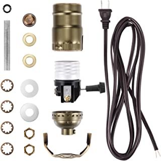 Canomo Lamp Light Kit Make a Lamp Kit with Essential Hardware, 3 Way Socket and 12 Feet Matching Cord for DIY Table and Fl...