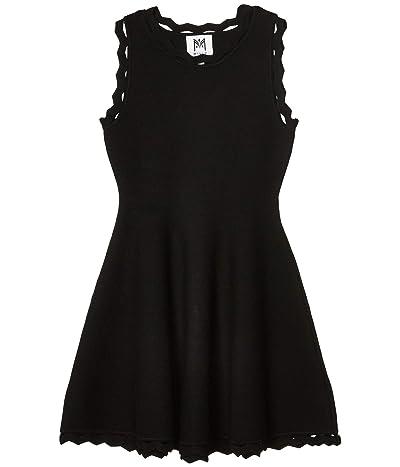 Milly Minis Zigzag Trim Flare Dress (Big Kids) (Black) Girl