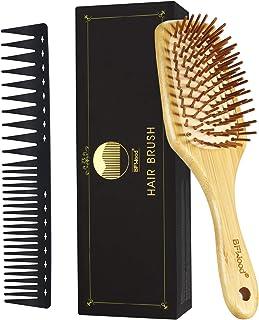 BFWood Cepillo de Pelo de Bambú y Peine para Desenredar para Todo tipo de Cabello