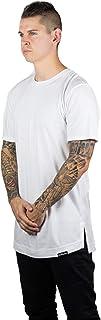 Headquarters Mens Hipster Hip Hop Elongated Long Tee Shirts