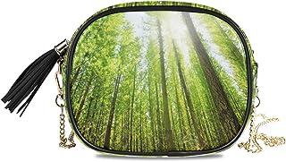 XiangHeFu Sunny Forest Coin Case Bolso para teléfono de viaje de gran capacidad Monedero Monedero Tarjetero