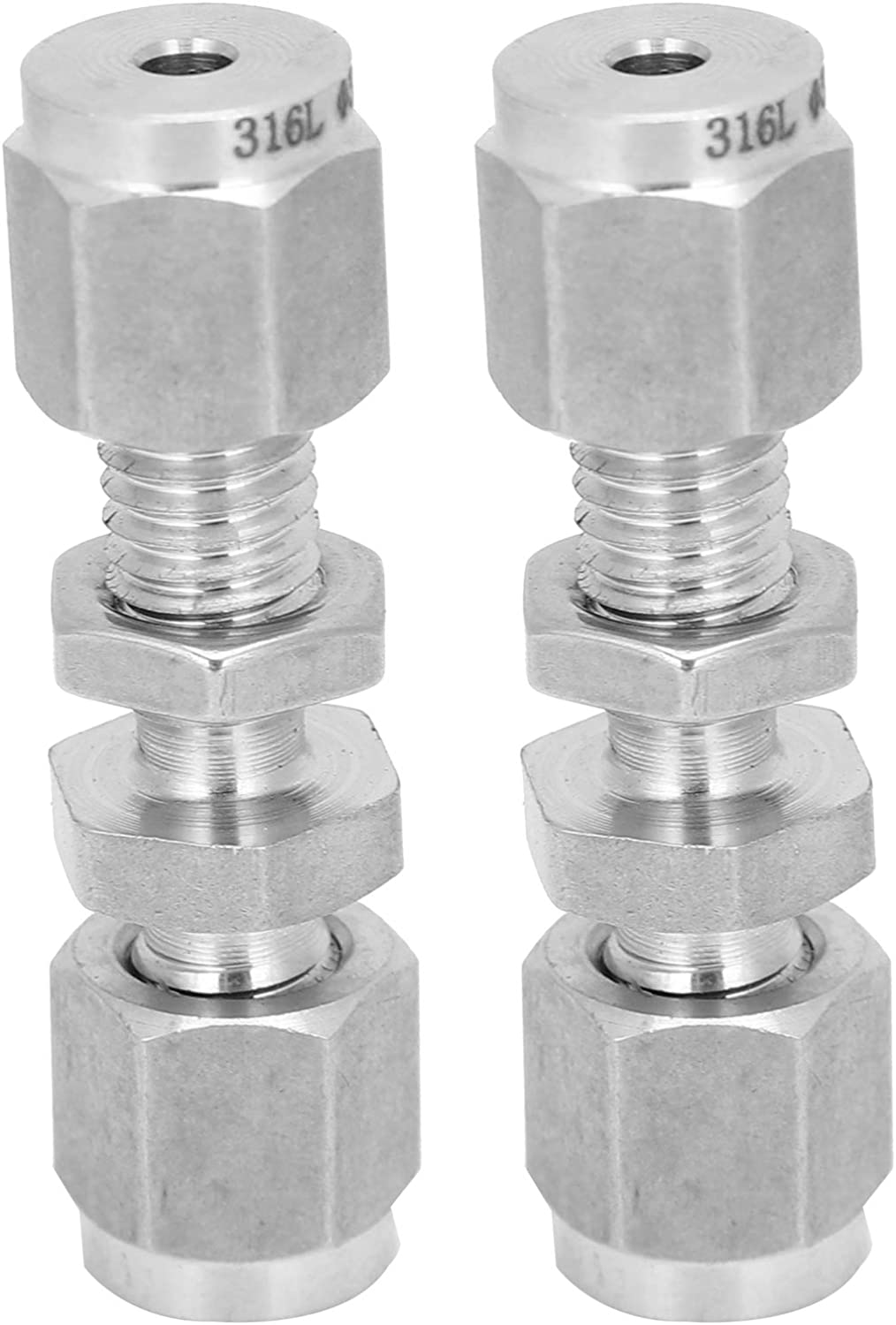 2Pcs Washington Mall New Shipping Free Shipping 316 Stainless Steel Double Fitting Ferrule