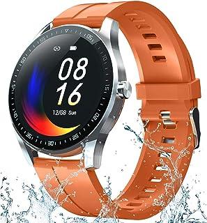 Smartklocka för kvinnor, kroppstemperatur smartklocka med puls blodtryck blod syremätare, smartklocka fitnessmätare för iO...