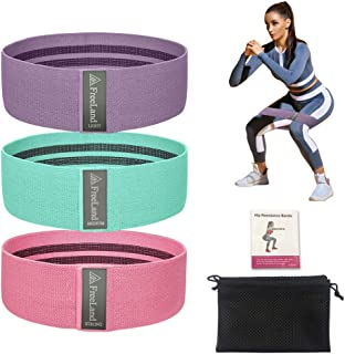 FreeLand Resistance Bands Set Non-Slip Fabric Band for Squat Glute Hip Training