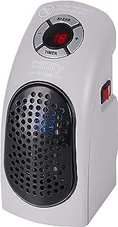 CAMRY CR 7715 - Calefactor silencioso con dos niveles (LED, 700 W, radiador cerámico, calefacción de bajo consumo para hogar, cuarto de baño, habitación de los niños, viajes, camping, tamaño pequeño)