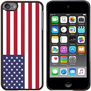 STPlus United States American Flag Hard Cover Case for Apple iPod Touch 6