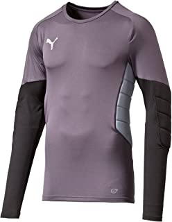 Puma Men's GK Padded Goalkeeper Shirt - Ebony-Black-Tradewinds, X-Large