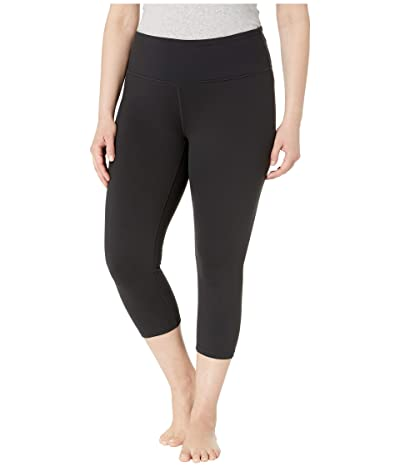 Prana Plus Size Transform Capris (Black) Women
