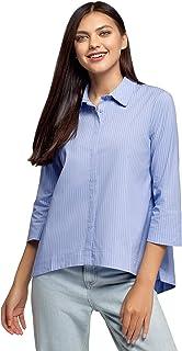 oodji Ultra Dames casual hemdblouse met asymmetrische zoom