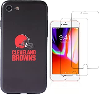 """Sportula NFL Phone Case for iPhone 7/iPhone 8 (4.7""""), Give 2 Premium Screen Protectors Extra Value Set (Cleveland Browns)"""