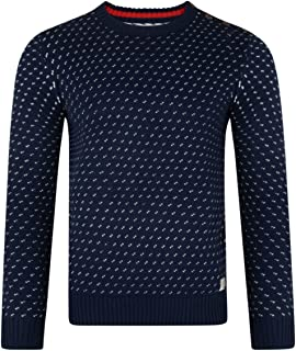 Lee Cooper Merstone DOTT Crew Neck Acrylic Jumper Pullover Knit Sweater